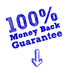 Money Back Guarantee 100% - Burst Badge Blue