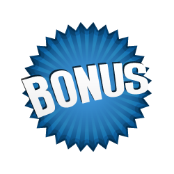 Bonus Burst Badge Blue
